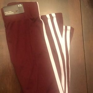 Rue 21 X-Small burgundy leggings, never worn.